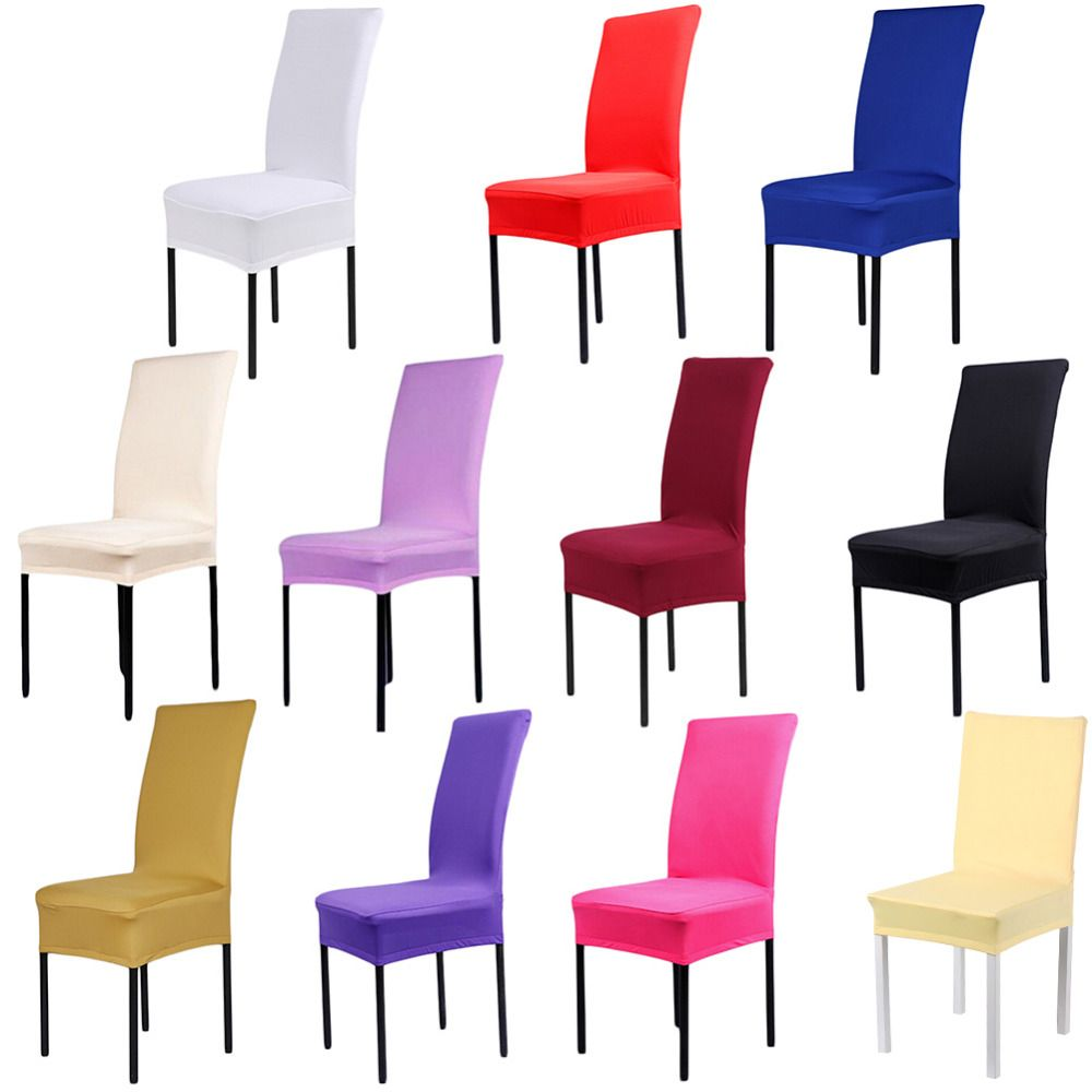 11 Colors Dining Chair Covers Spandex Material High Quality Strech Endearing Wholesale Dining Room Chairs Inspiration Design