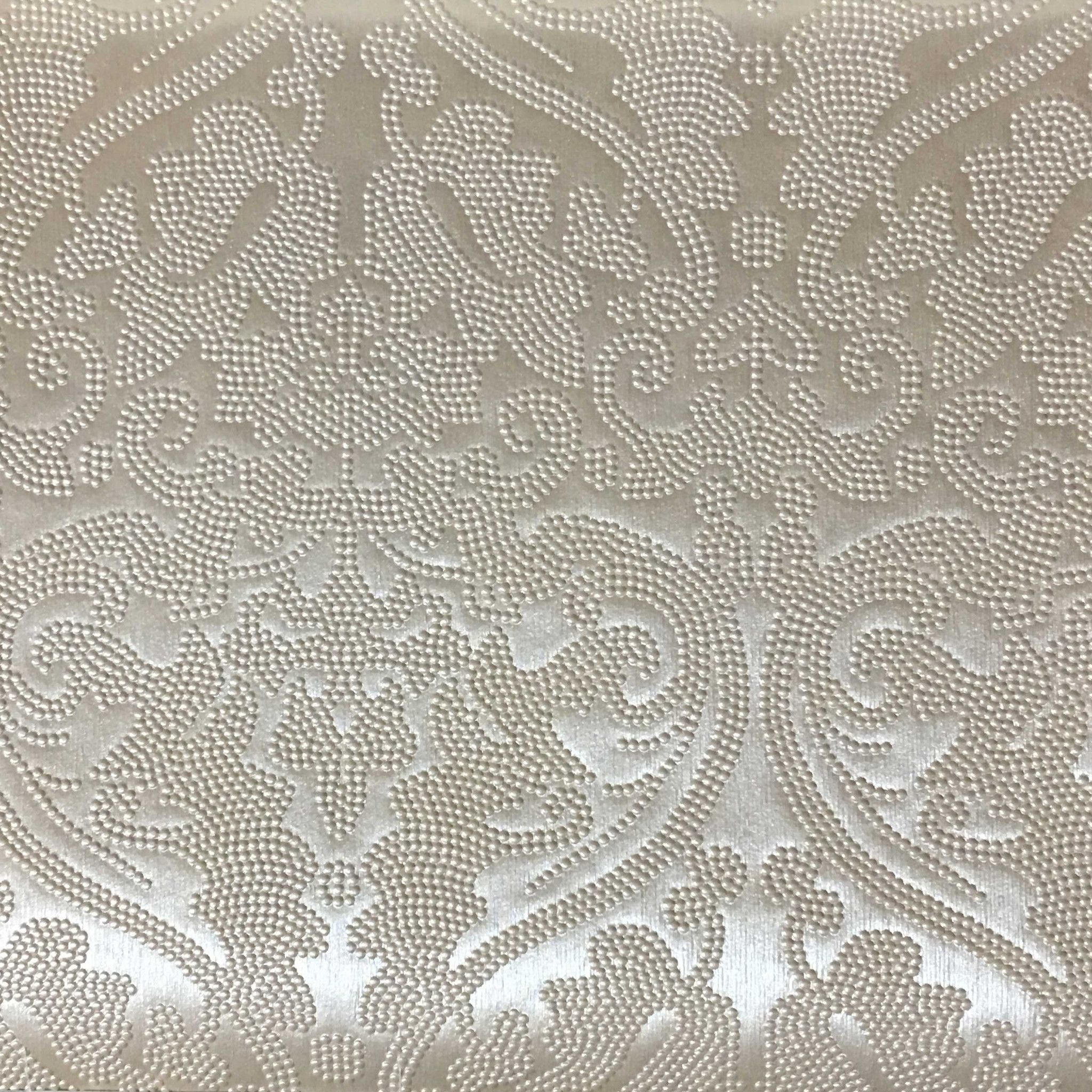 Lyon - Embossed Damask Pattern Vinyl Upholstery Fabric by the Yard ... for upholstery fabric designs patterns  568zmd