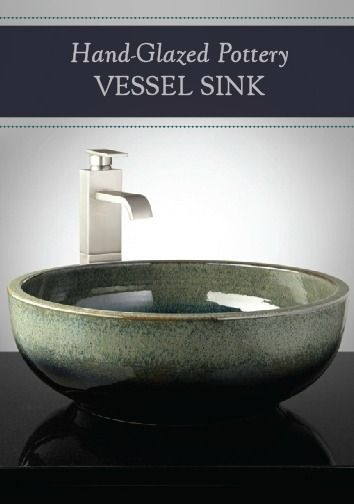 This Hand Glazed Ceramic Vessel Sink Is A Truly Stunning Addition To Your Bathroom Ceramic Sink Sink Pottery