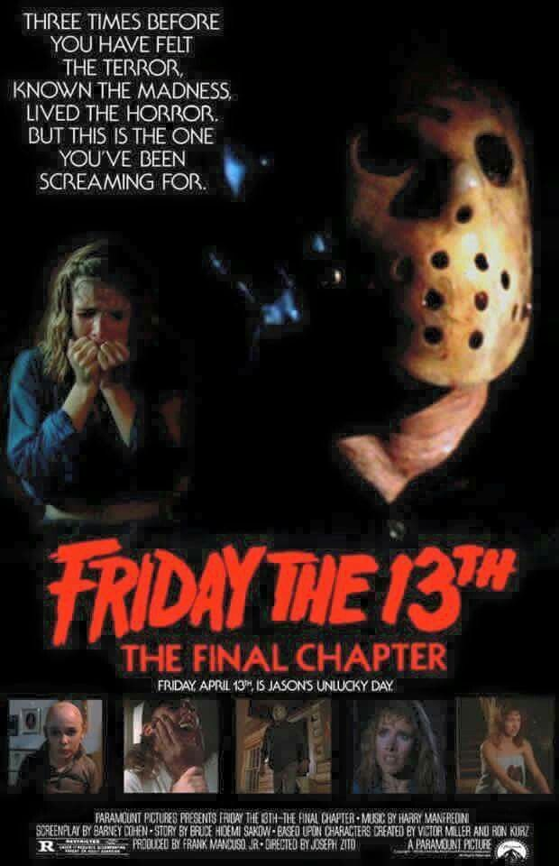 Friday The 13th Part 4 The Not So Final Chapter Friday The 13th Horror Movie Icons Horror Movie Posters