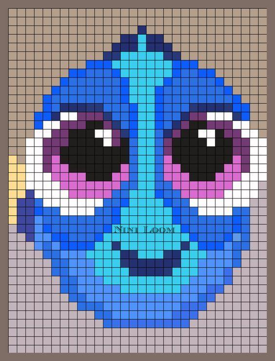 Baby Dory Perler Bead Pattern: