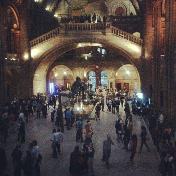 kelvictoria2 The #nhm last night at #SU2013 #science #naturalhistory #architecture