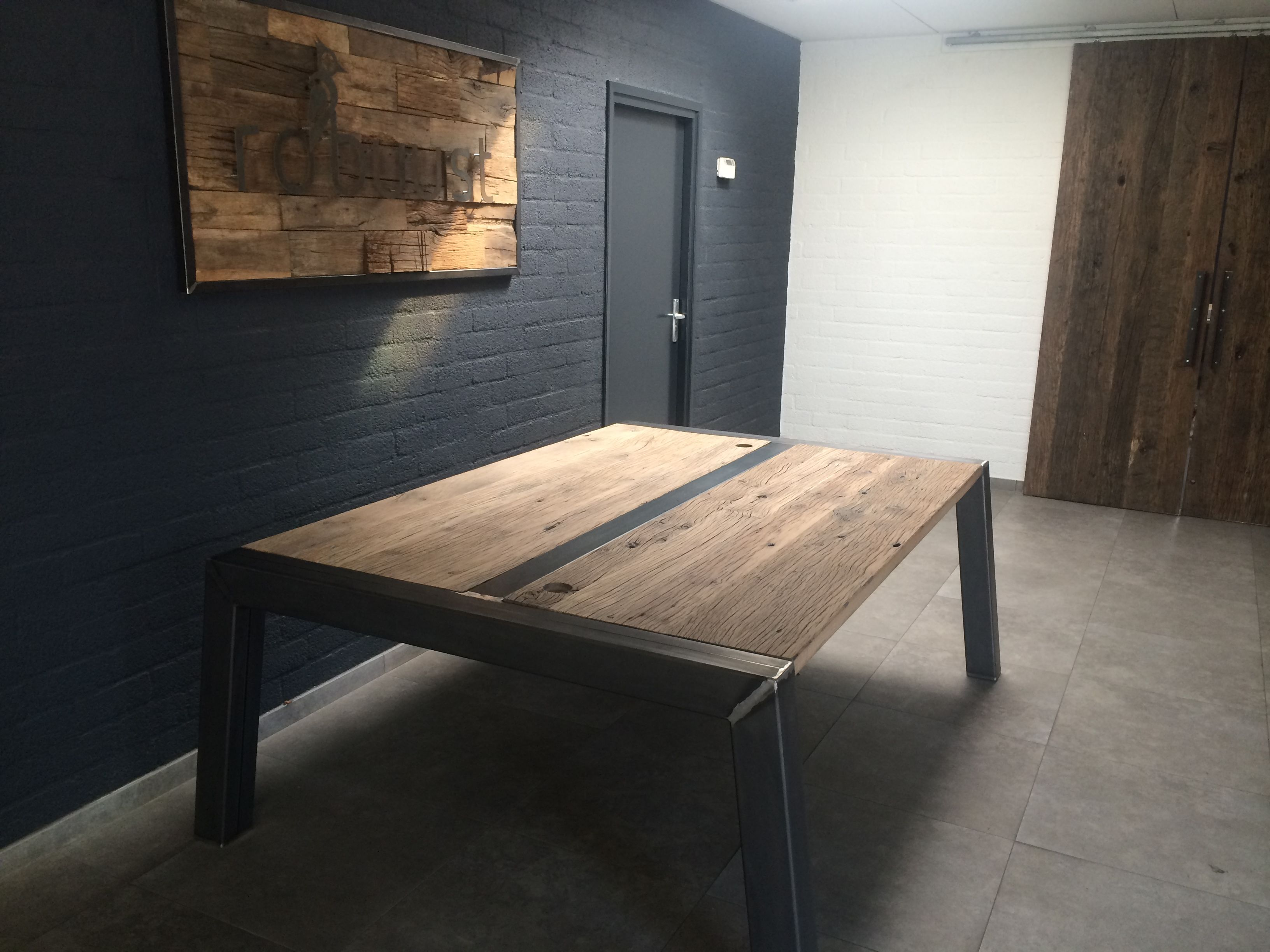 bureau staal hout op maat - google zoeken | kantoor deventer ... - Designer Chefmobel Moderne Buro