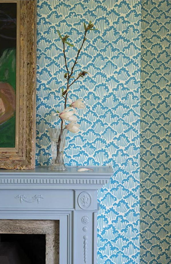New Japanese Inspired Wallpapers From Farrow And Ball Feature Wall Wallpaper Wallpaper Bedroom Feature Wall Wallpaper Bedroom