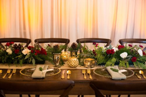 winter woodsy reception table | Plan It Event Design & Management | Orlando Wedding Planner | Photo by Drake Photography