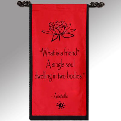 Inspirational Banners Friend, Aristotle Family wall