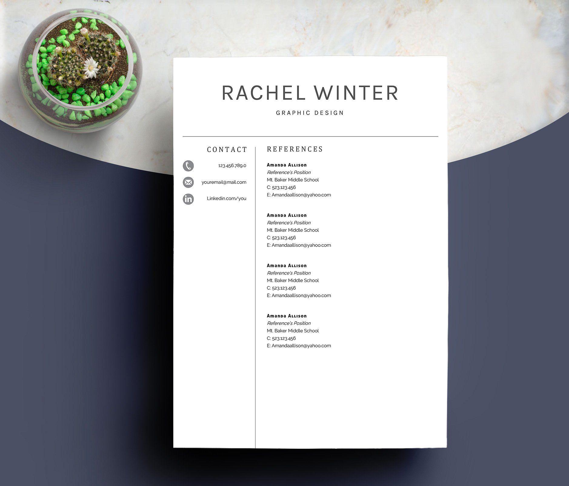 CV Template Cover Letter FileGuidePDFFonts Templates