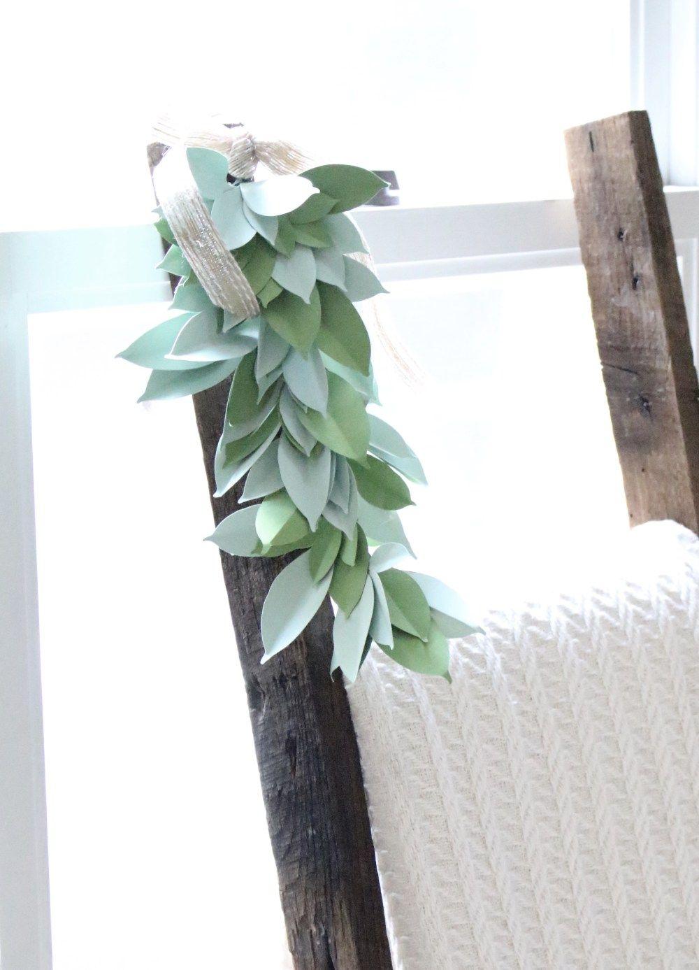 Farmhouse Paper Swag Cricut Explore Air paper crafts DIY die cut
