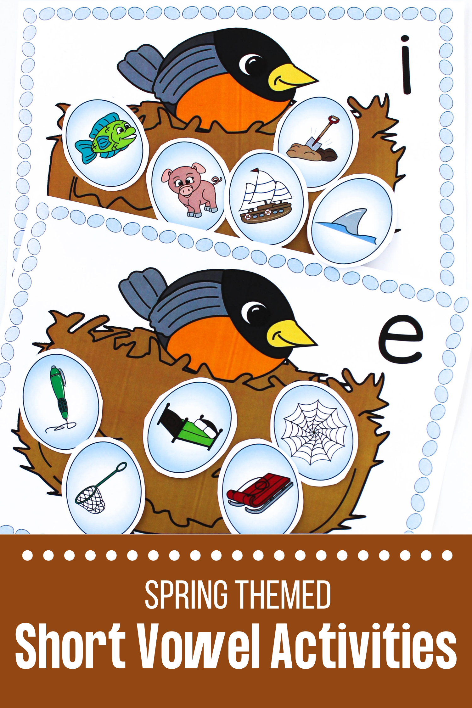 Robin S Nest Activities For Early Phonics Skills In 2020 Vowel Activities Short Vowel Activities Short Vowels