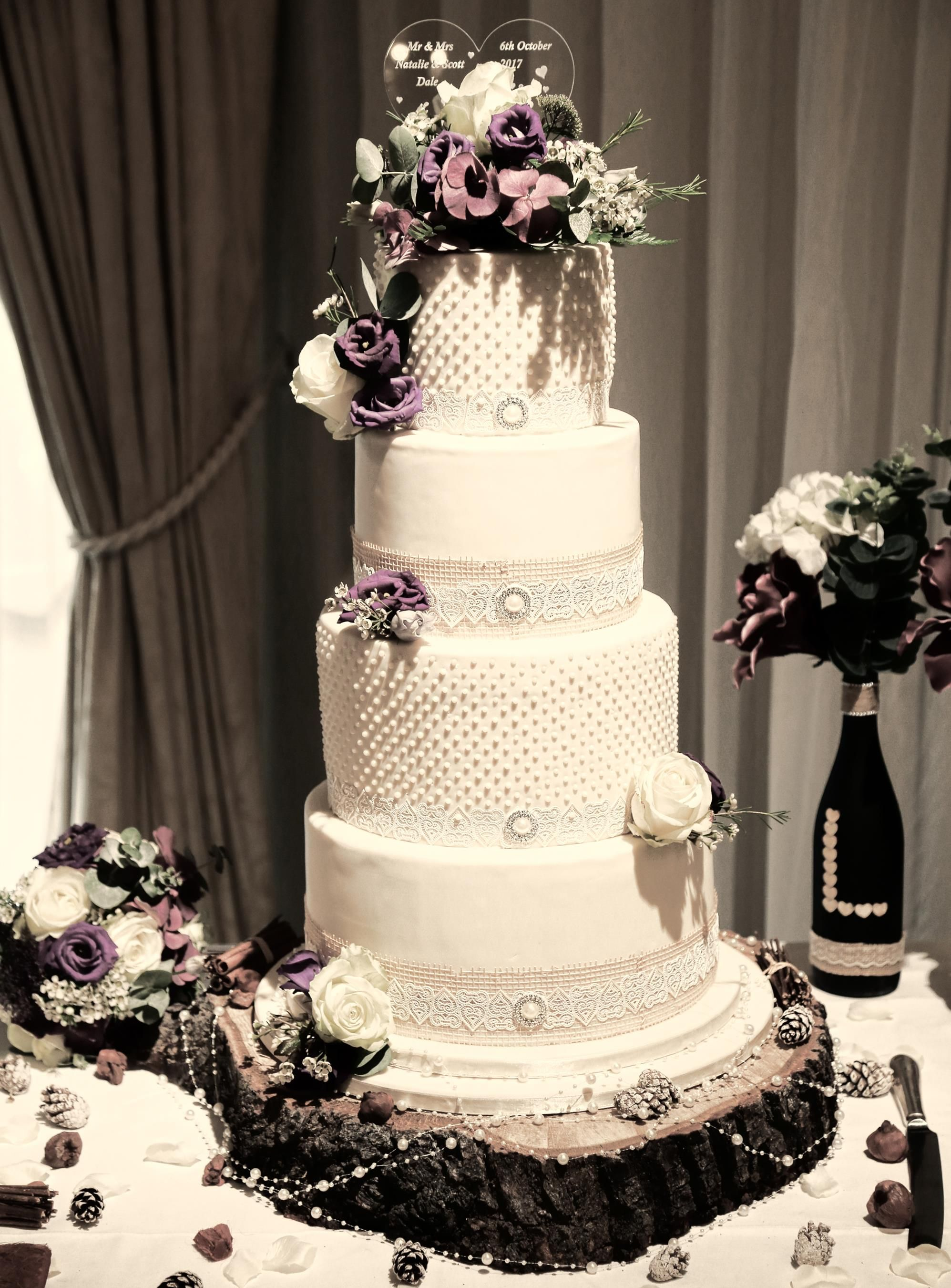 Wedding Cake at Moor Hall Hotel & Spa photo courtesy of Sally