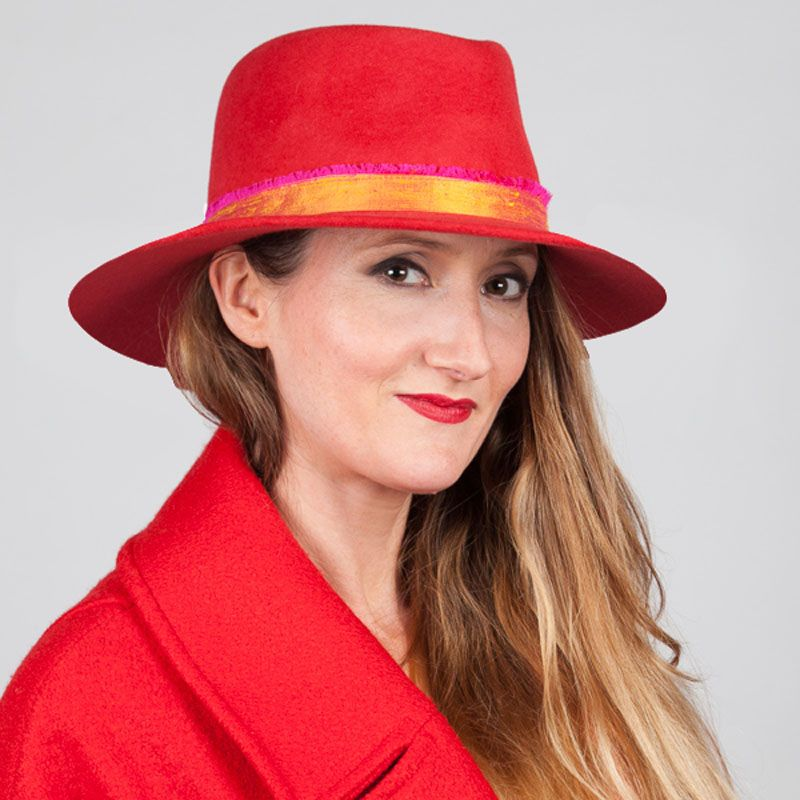 a52f0e6b Newbury fedora with frayed silk trim Joanna Zara Millinery £295.00  Fabulously tactile, this luxurious sailor style cap is hand blocked in  glossy black deep ...