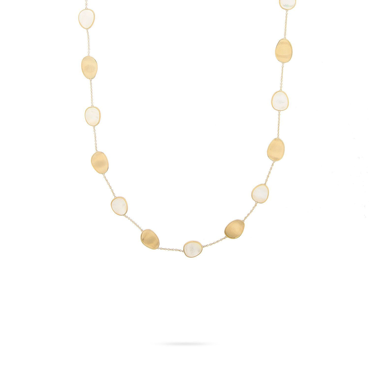 NEW - Lunaria Gold & White Mother of Pearl Short Necklace