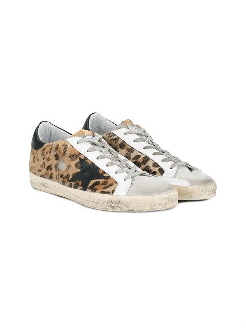 a889900c8a81c Golden Goose Deluxe Brand distressed leopard print Superstar sneakers
