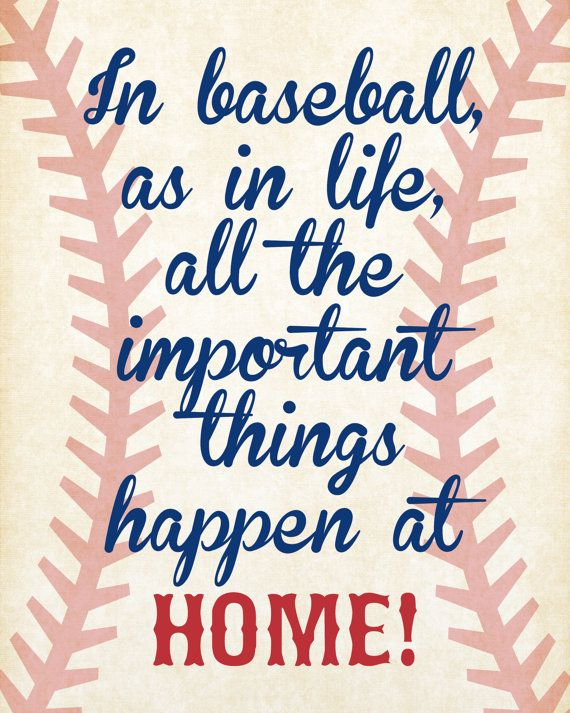INSTANT DOWNLOAD, Baseball Quotes Nursery Wall Art, Home