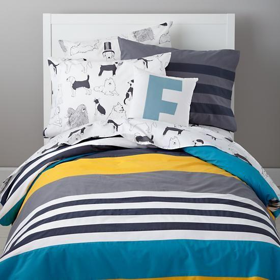 The Land Of Nod Boys Bedding Striped Boys Bedding In Boy Bedding Boys Bedding Boys Bedding Sets Boys Duvet Cover