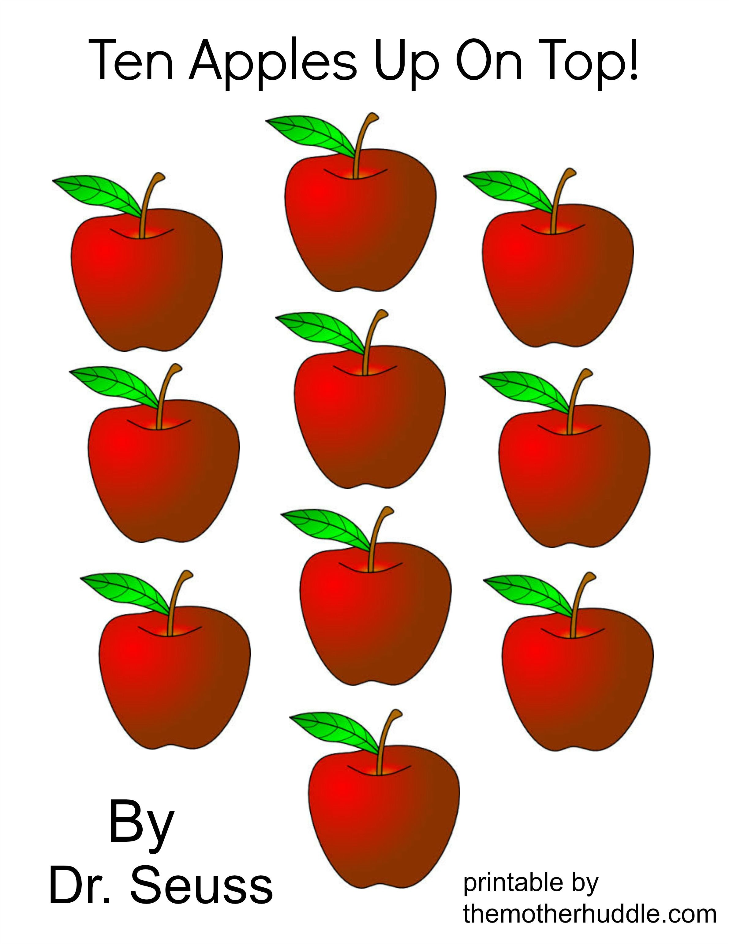 Color Ten Apples Up On Top