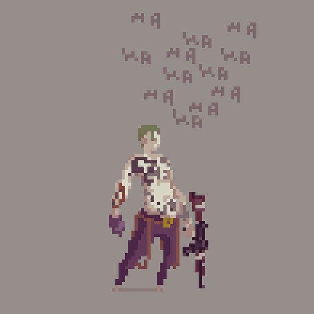Jared Leto's Joker as suggested by a friend #pixelart #joker #illustration #art by spudonkey