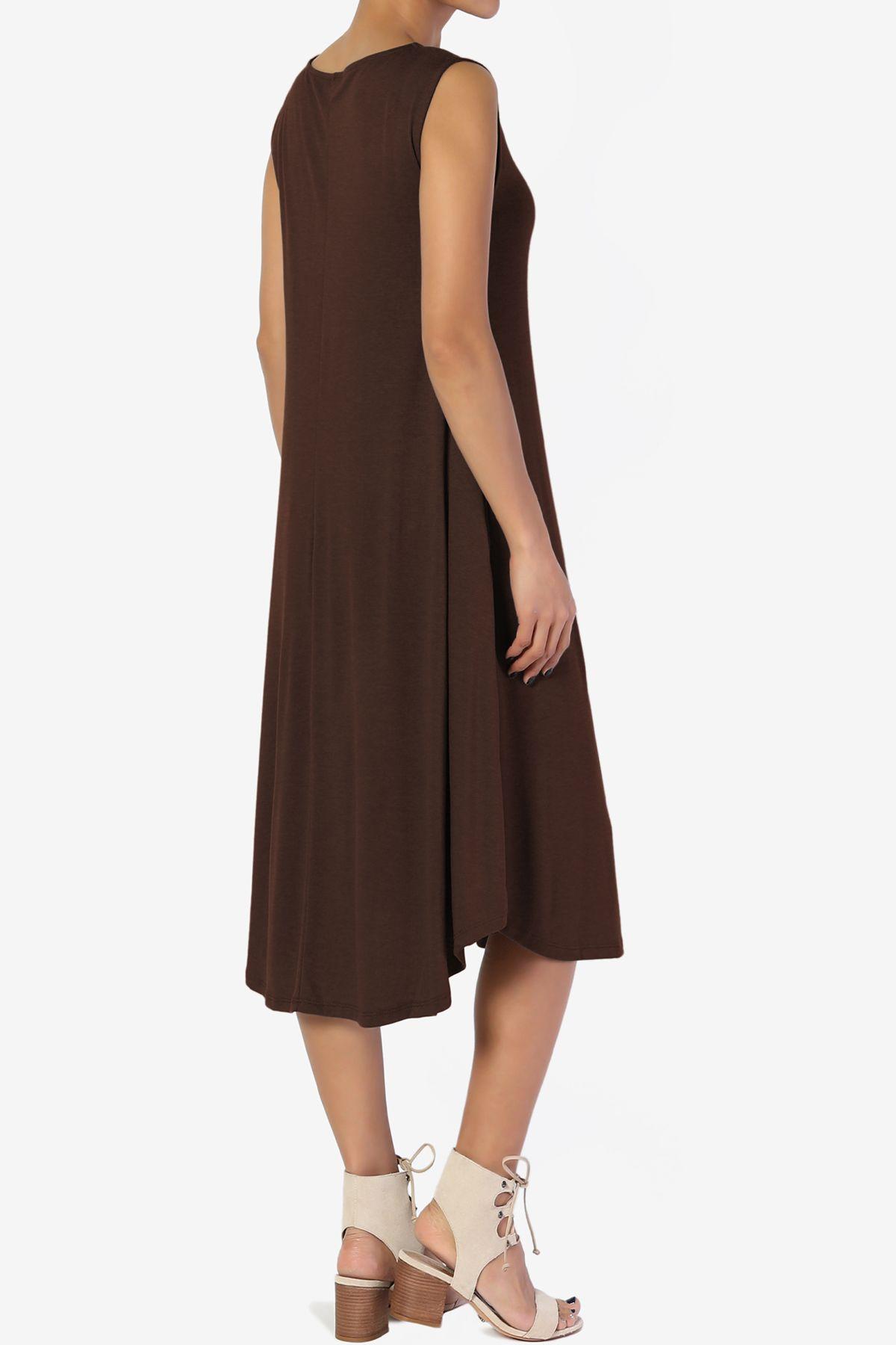 Themogan Themogan Women S S 3x Sleeveless Fit Flare A Line Draped Jersey Midi Long Dress Walmart Com Long Midi Dress Dresses Long Dress [ 1800 x 1200 Pixel ]