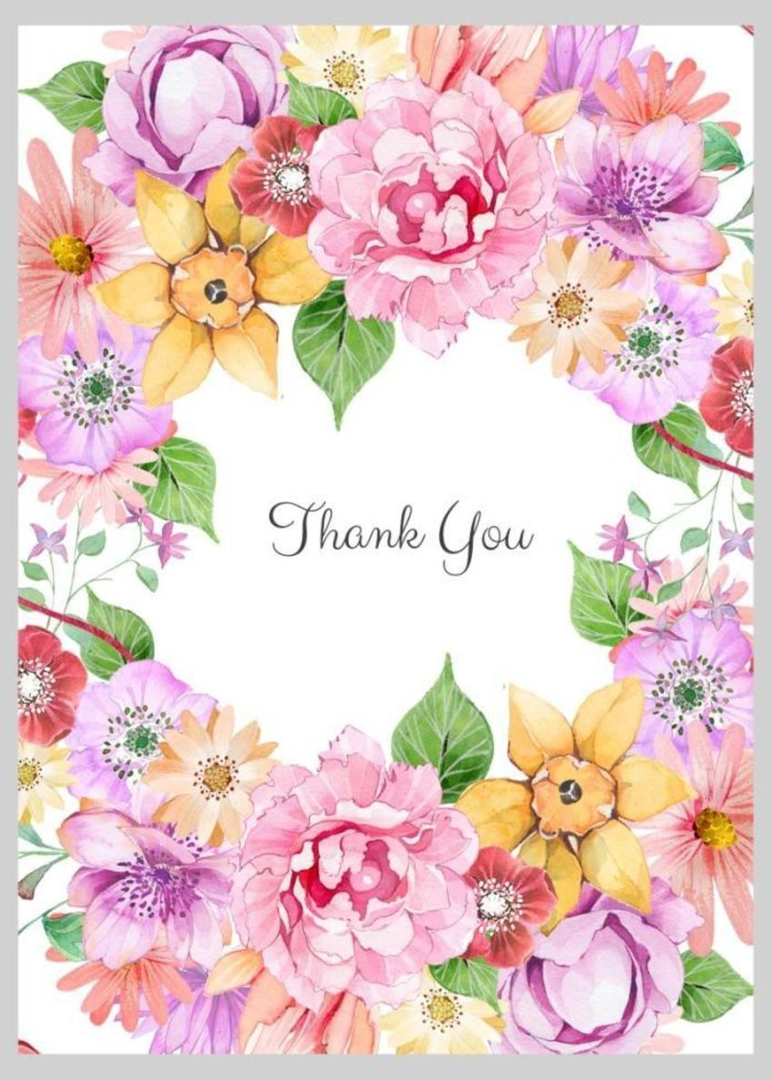 Floral Thank You Wreath Victoria Nelson Thank you