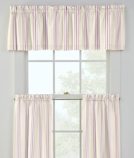 French Ticking Tailored Valance
