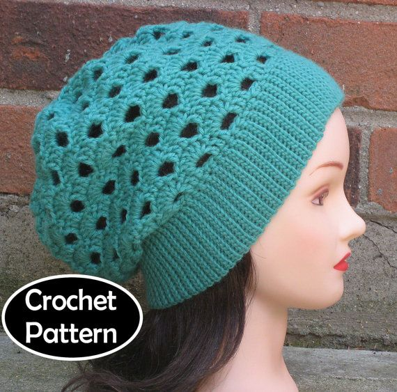 CROCHET HAT PATTERN Pdf Instant Download - Meredith Slouchy Beanie ...