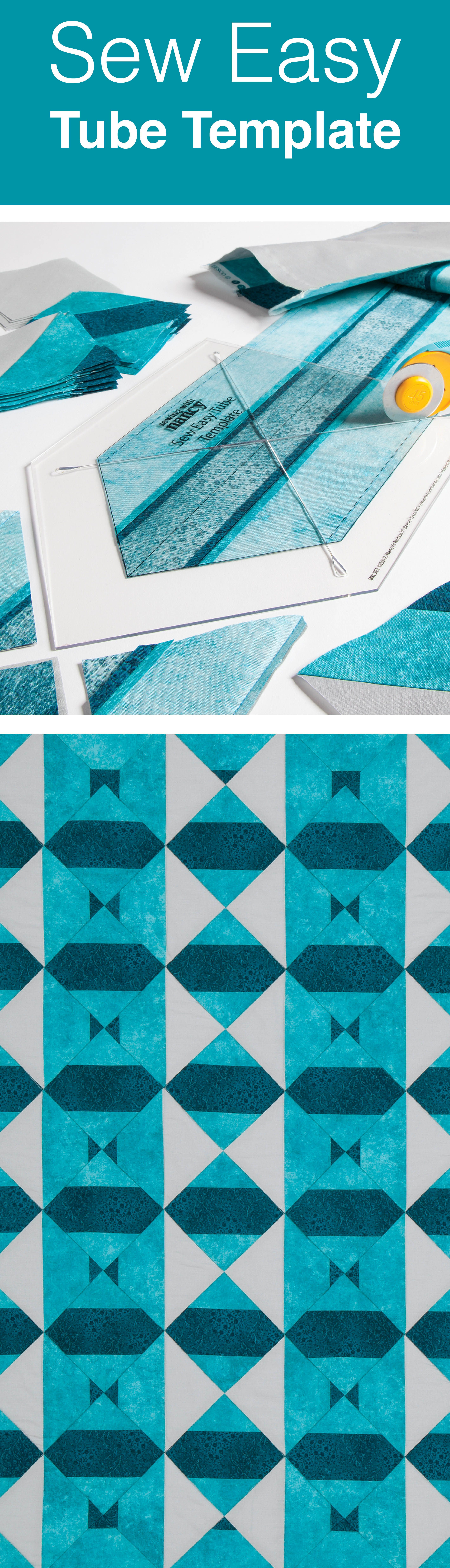 The Sew Easy Tube Template allows you to create striking quilt ...