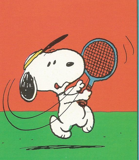 Peanuts Character Snoopy Playing Tennis By Magnetsbyabby On Etsy Snoopy Cartoon Snoopy Tennis Art