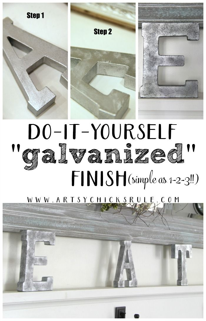 How To Create A Diy Galvanized Finish The Easy Way