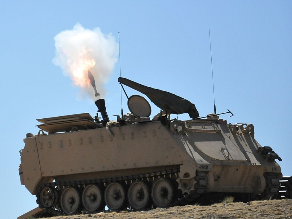 Arty 120mm mortar m1064 mortar carrier 04 2014