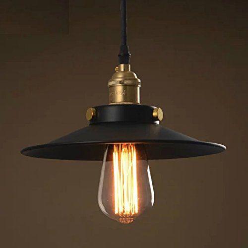 Stile loft industriale IKEA retrš° piccolo lampadario nero moderno bar ristorante minimalista ...