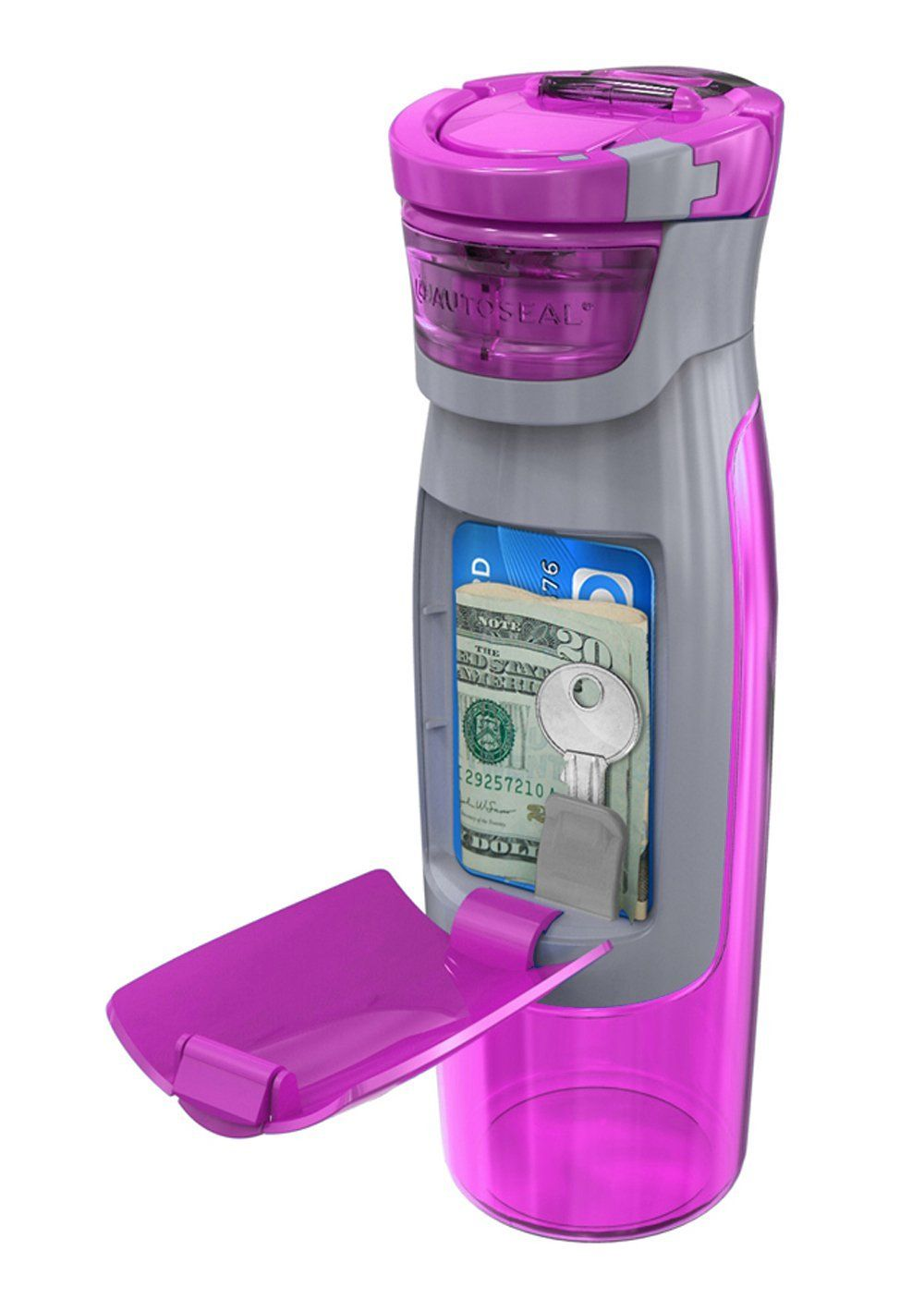 Contigo 24 oz Autoseal Kangaroo Water Bottle with Storage Compartment