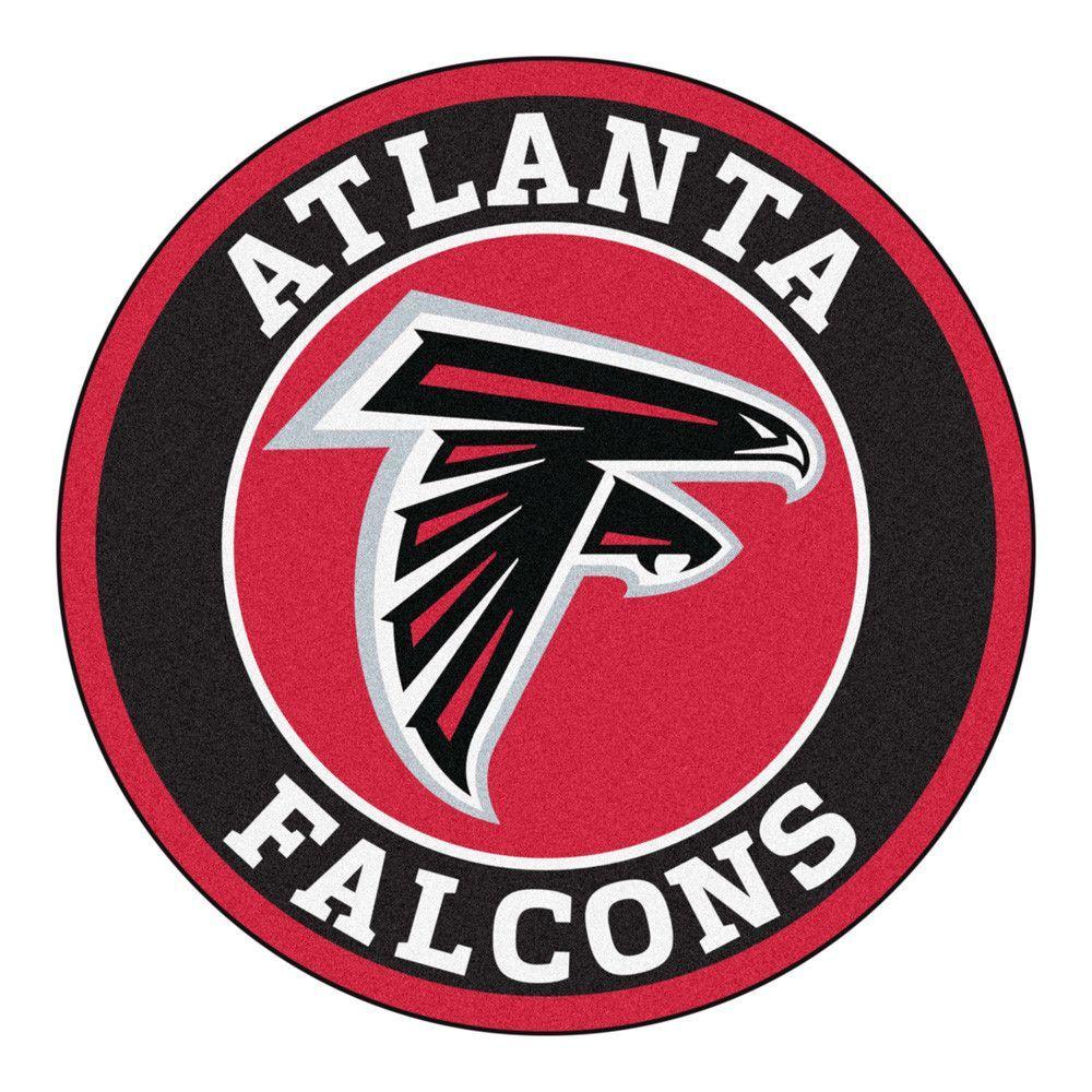Atlanta Falcons Team Emblem Throw Rug Atlanta Falcons Falcon Logo Falcons