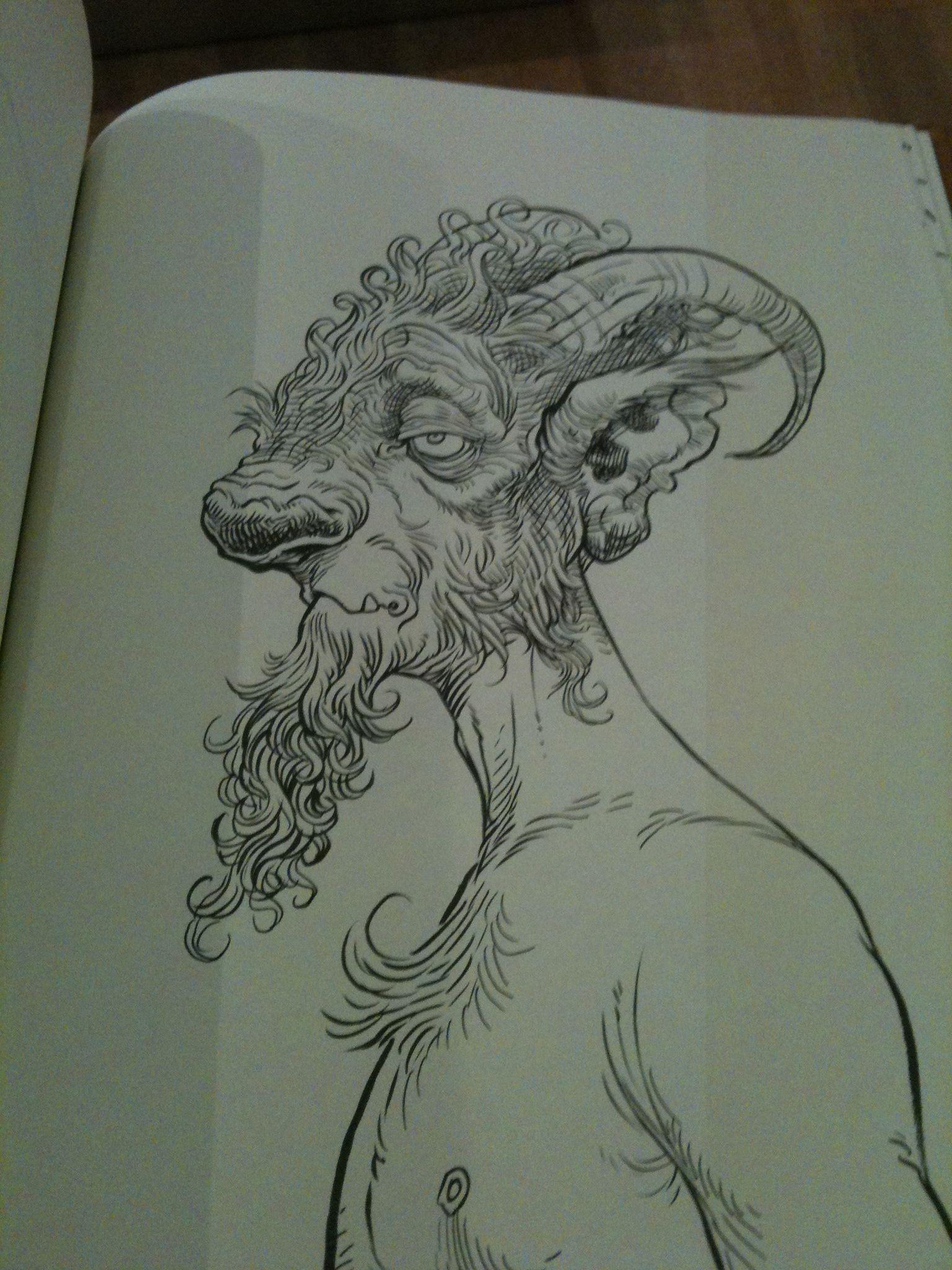 Art from Chris Riddell's notebooks.
