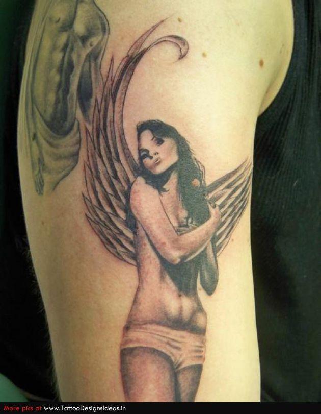 Sexy angel tattoo