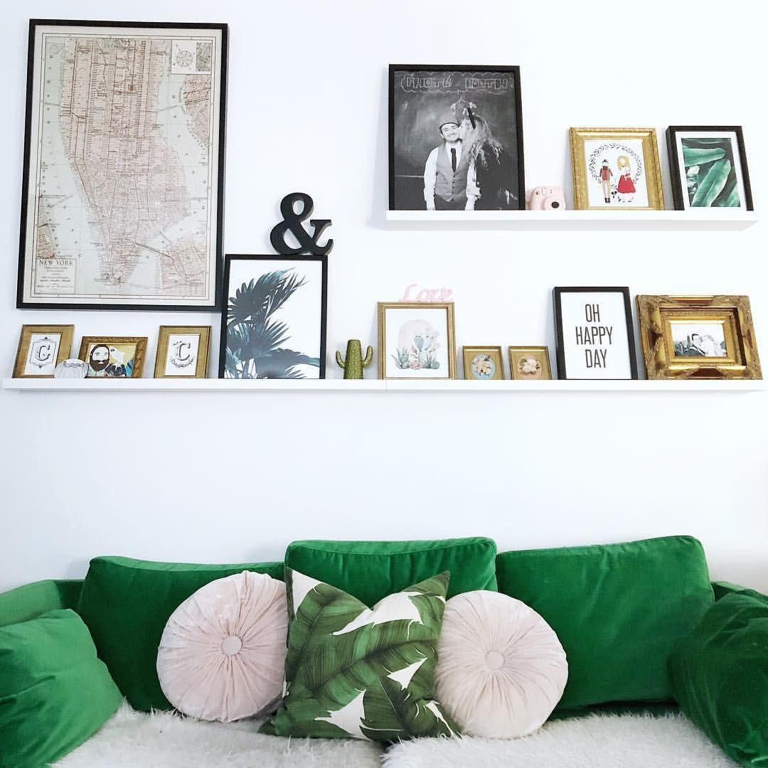 green velvet sofa wall art ikea picture shelves desenio