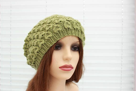 Instant Download Bonnie Knitted Ladies Beanie Slouchy Hat Hpk24