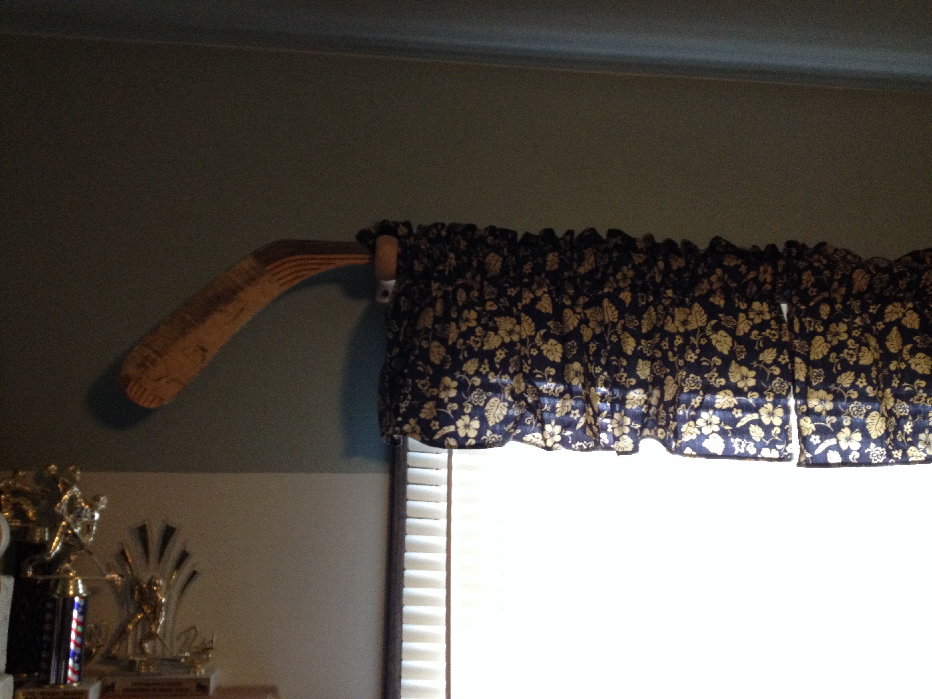 Curtain Rod From Hockey Stick Curtain Rods Valance Curtains