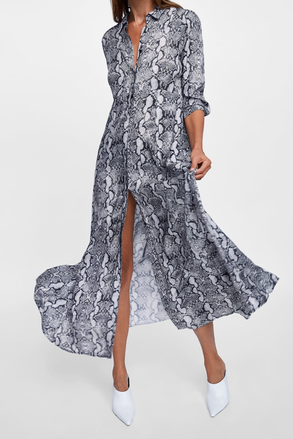 34506f37c430 Image 2 of SNAKESKIN PRINTED SHIRT DRESS from Zara | Women's fashion ...