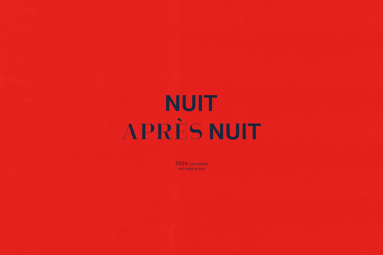 Nuit Apres Nuit Monumento Red Blend Wine Design Graphique Logo Design