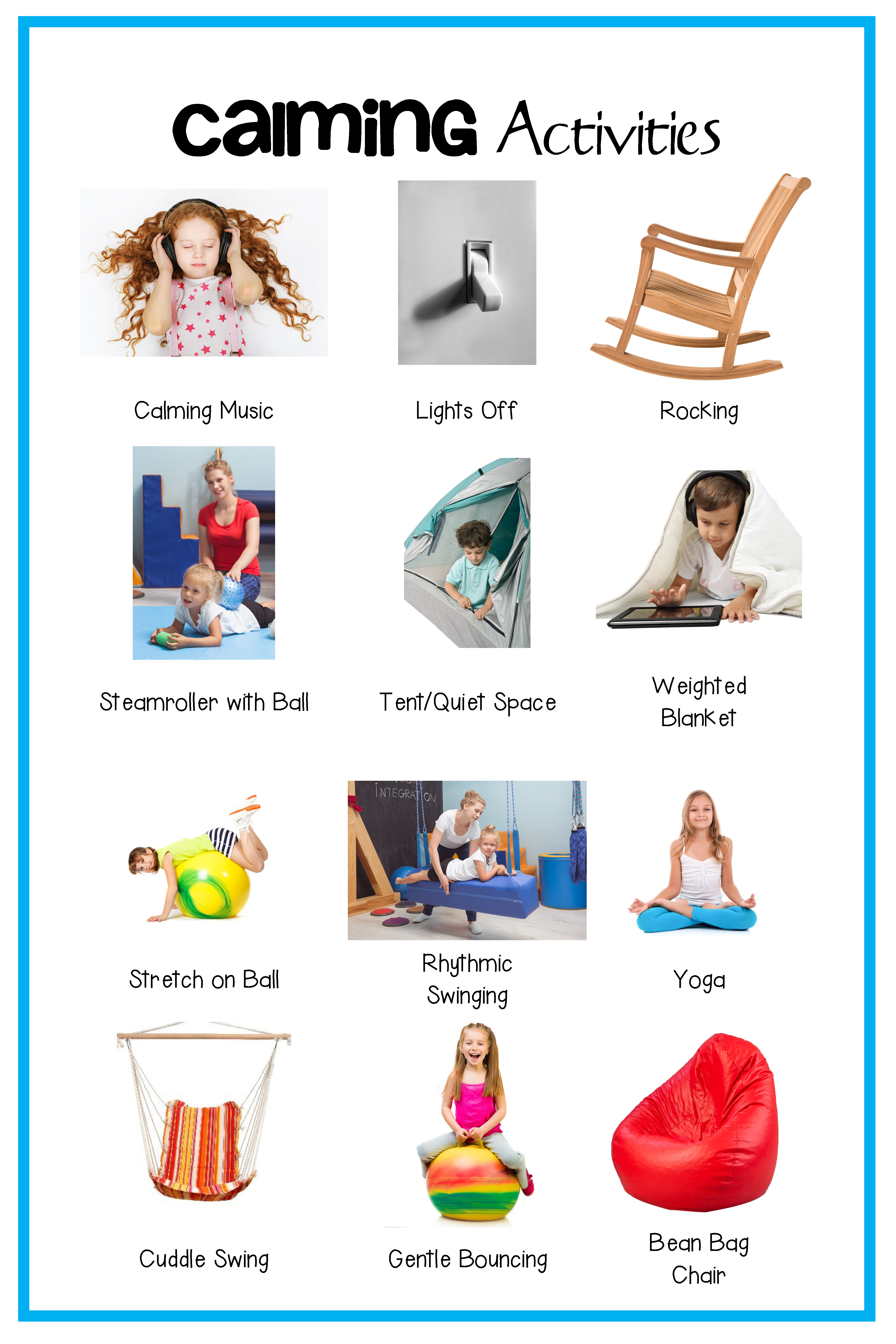 Self Regulation Sensory Strategies Starter Kit Printable