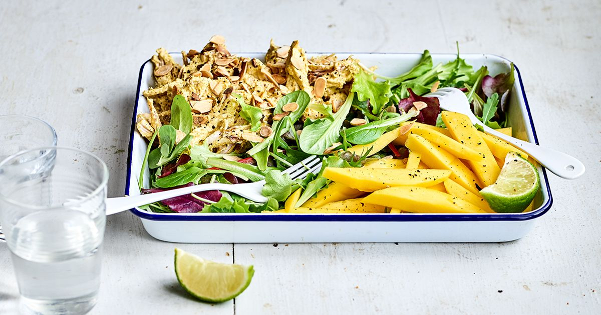 Curried roast chicken and mango salad