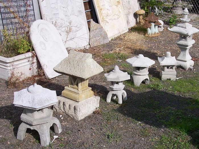 asian garden art and statuary concrete garden decor portland - Concrete Garden Decor