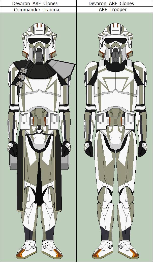 Commander Trauma and ARF Trooper from the Clone Wars TV series ...