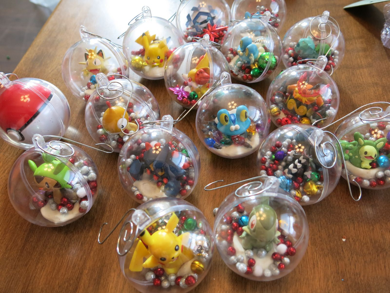 Clear christmas bulbs for crafting - Diy Pokemon Christmas Decorations Ornaments