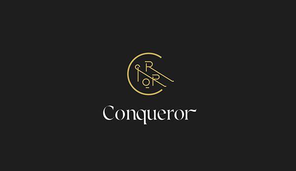 unique logo design conqueror logo design logo ideas pinterest