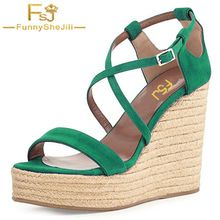 Plataforma Sandalias Cuñas Correa Zapatos Fsj Flock Mujer Hebilla UVjzpSLMGq