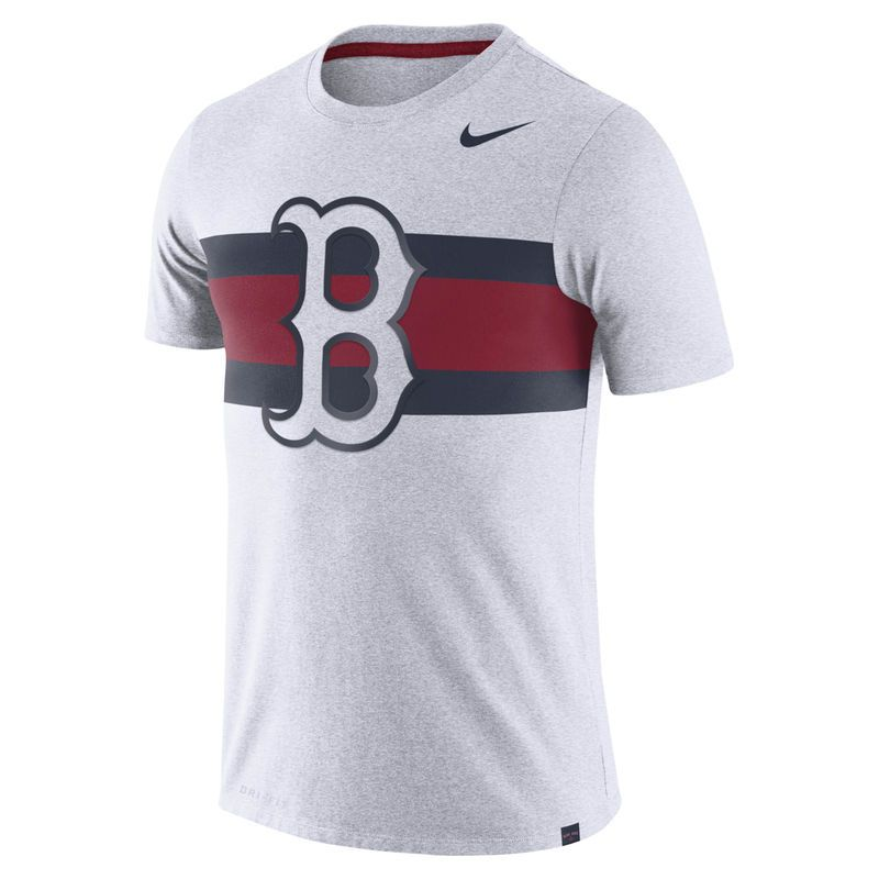 Men's Boston Red Sox Nike Heathered Navy Tri Blend T Shirt