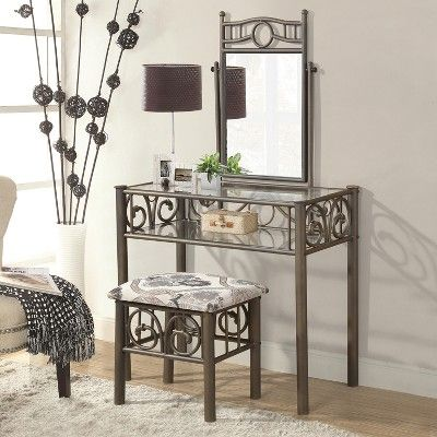 Vanity And Bench Metal Bronze Home Source Industries