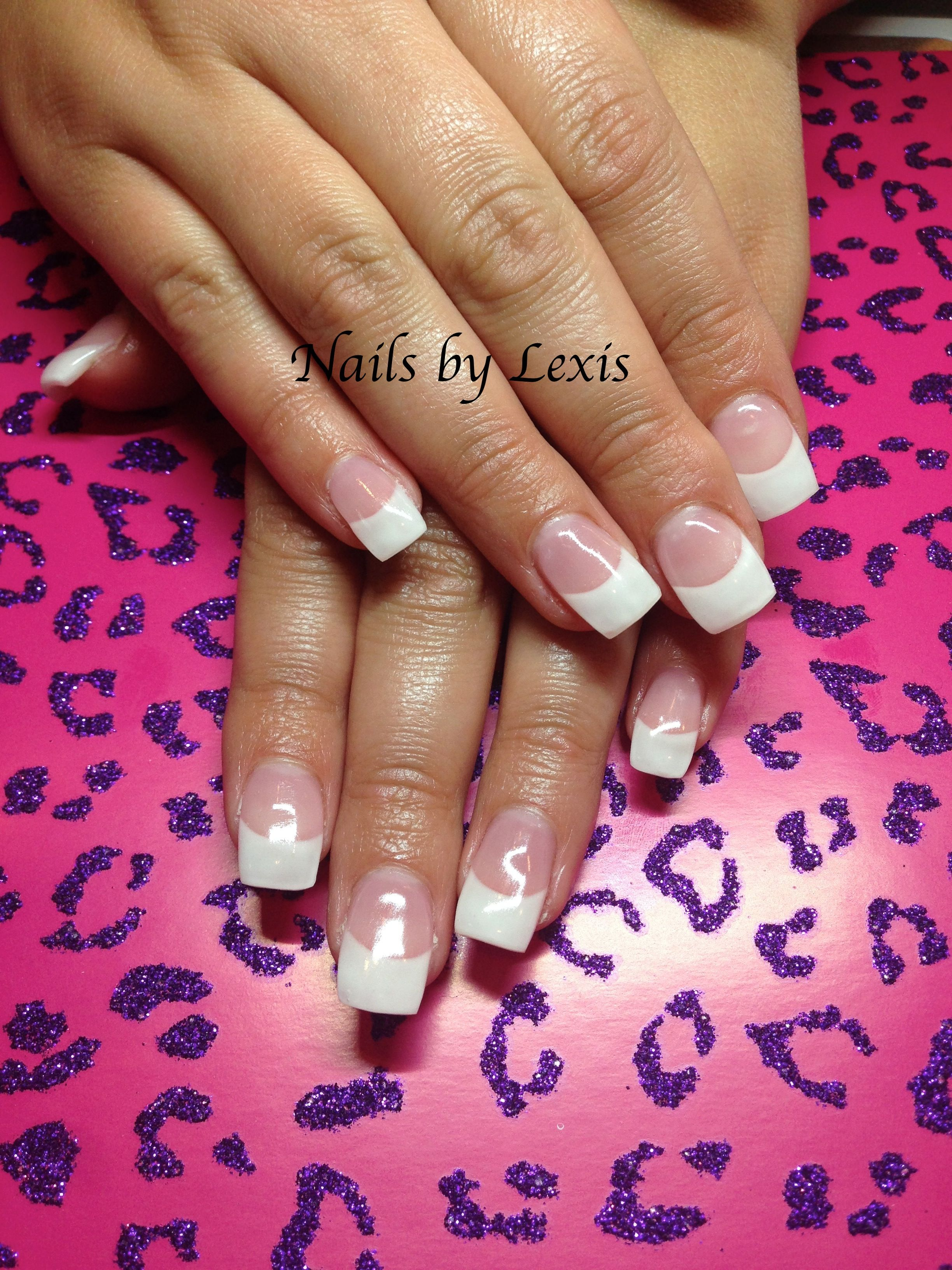 White French Fuzion Gel Nails By Lexis