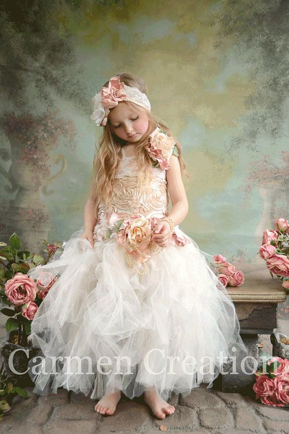 1000  images about Flower girl dresses on Pinterest - Dusty pink ...